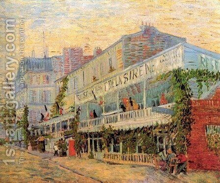 Restaurant de la Sirene at Asnieres 2 by Vincent Van Gogh - Reproduction Oil Painting
