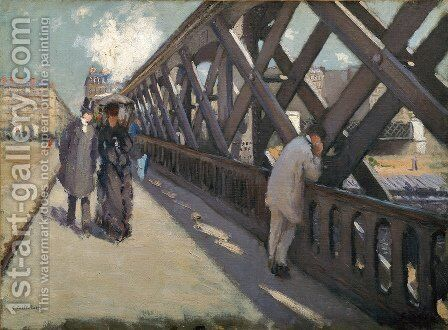 Study for Le Pont de l'Europe by Gustave Caillebotte - Reproduction Oil Painting