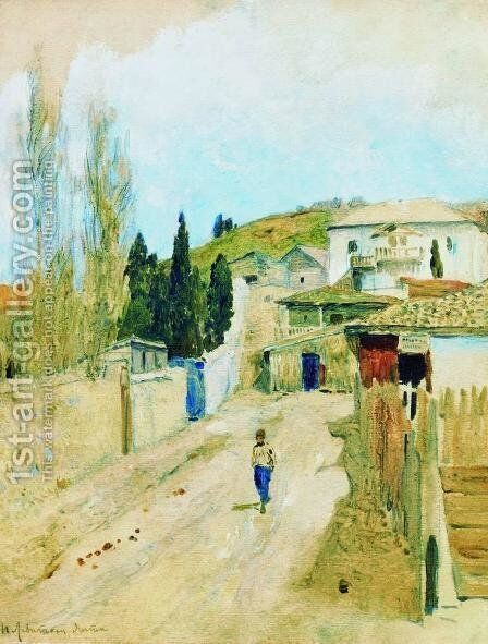 Street in Yalta by Isaak Ilyich Levitan - Reproduction Oil Painting