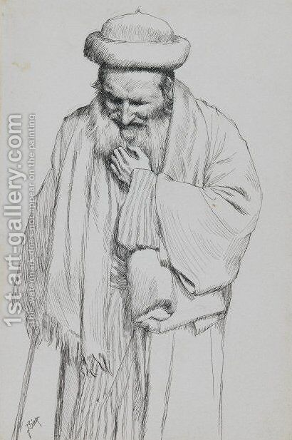 Type of Jew 6 by James Jacques Joseph Tissot - Reproduction Oil Painting