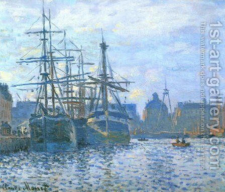 The Havre, the trade bassin by Claude Oscar Monet - Reproduction Oil Painting