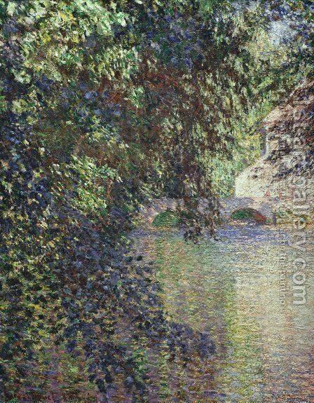 Watermill at Limetz by Claude Oscar Monet - Reproduction Oil Painting