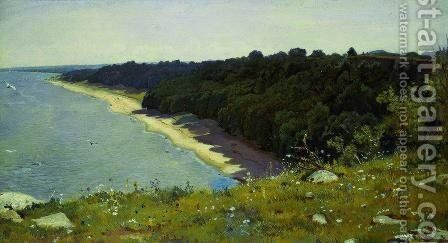 By the seashore by Ivan Shishkin - Reproduction Oil Painting