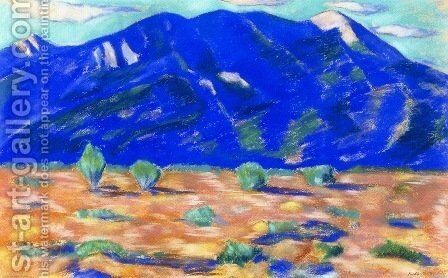 Pueblo Mountain by Marsden Hartley - Reproduction Oil Painting