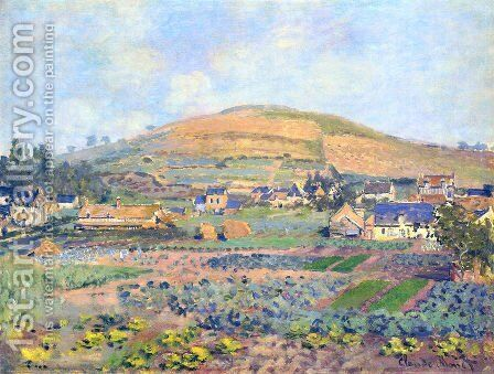 The Mount Riboudet in Rouen at Spring by Claude Oscar Monet - Reproduction Oil Painting