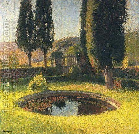 Fountain in South East Park in Marquayrol by Henri Martin - Reproduction Oil Painting