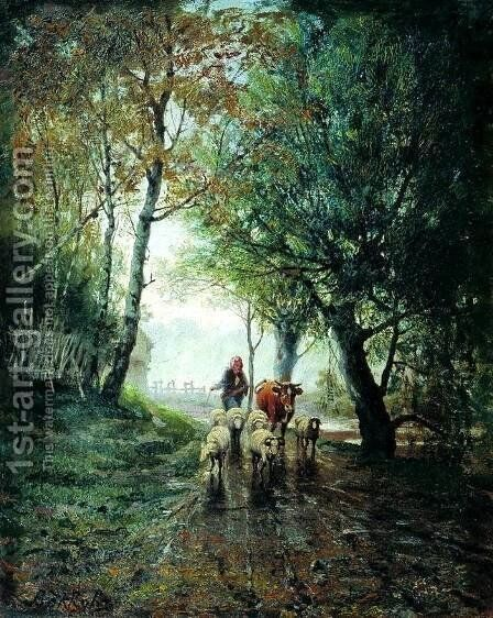 Grazing by Efim Efimovich Volkov - Reproduction Oil Painting