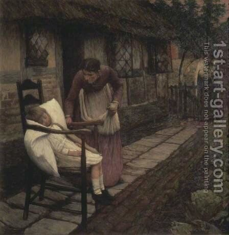 The Man with the Scythe by Henry Herbert La Thangue - Reproduction Oil Painting