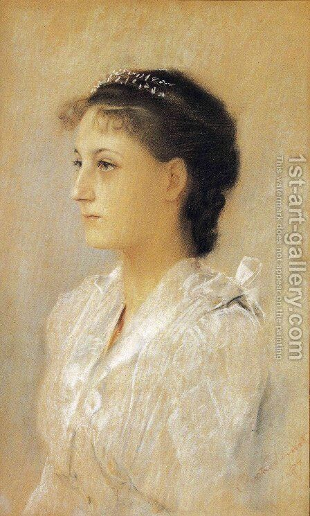 Emilie Floge, Aged 17 by Gustav Klimt - Reproduction Oil Painting