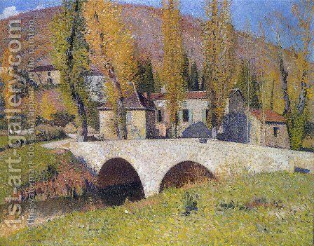 The Bridge in Labastide du Vert 7 by Henri Martin - Reproduction Oil Painting