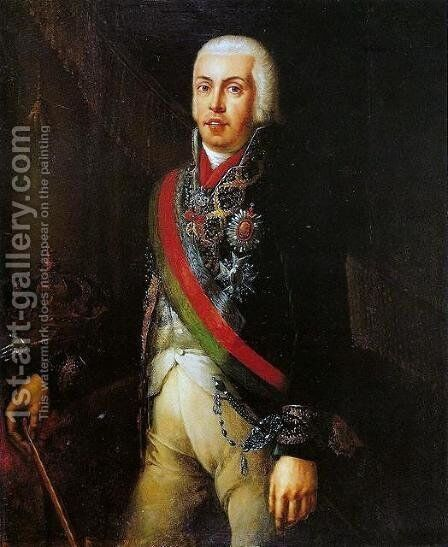 Retrato de D. Joao VI 2 by Domingos Antonio de Sequeira - Reproduction Oil Painting