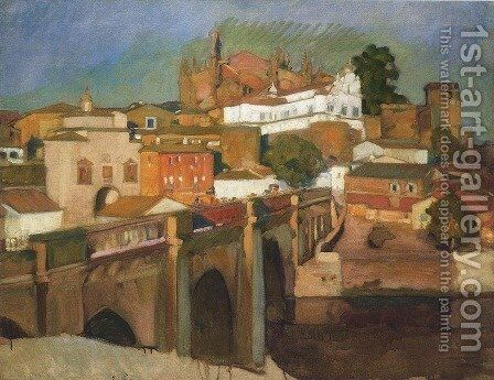 View of Plascencia by Joaquin Sorolla y Bastida - Reproduction Oil Painting