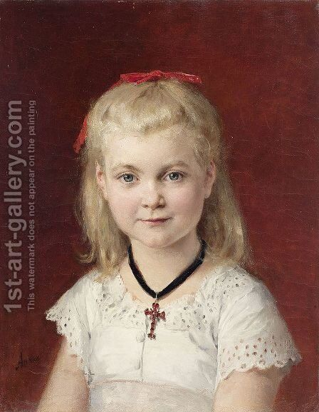 Bildnis Emilie Weiss by Albert Anker - Reproduction Oil Painting