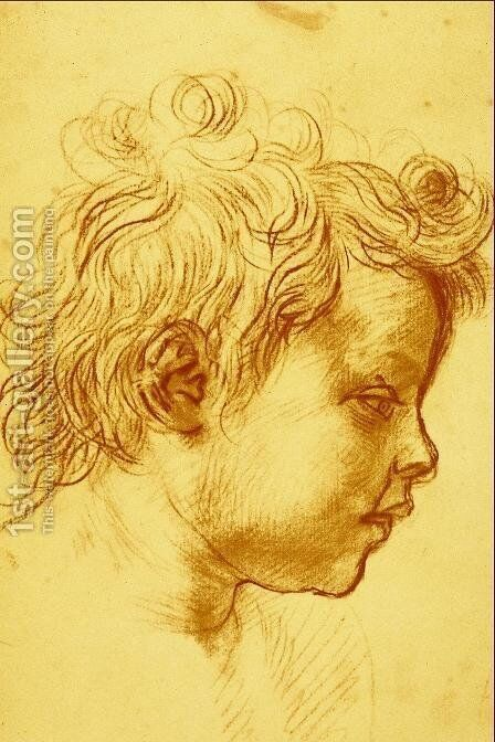 Head of a Child by Andrea Del Sarto - Reproduction Oil Painting