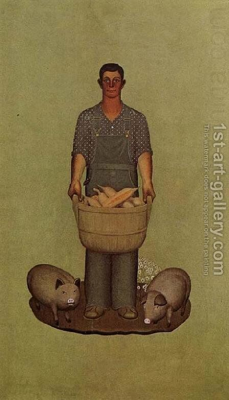 Iowa's Product 3 by Grant Wood - Reproduction Oil Painting