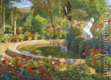 Fountain in Marquayrol 4 by Henri Martin - Reproduction Oil Painting