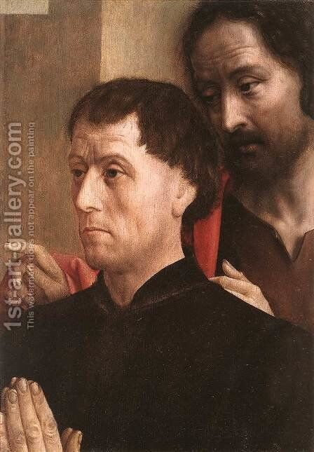 Portrait of a Donor with St John the Baptist 1478-80 by Hugo Van Der Goes - Reproduction Oil Painting