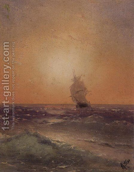 Sea view 9 by Ivan Konstantinovich Aivazovsky - Reproduction Oil Painting
