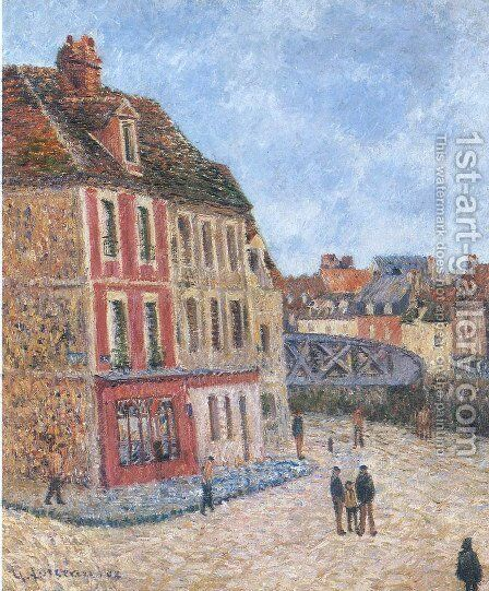 Pont Tourant at Dieppe by Gustave Loiseau - Reproduction Oil Painting