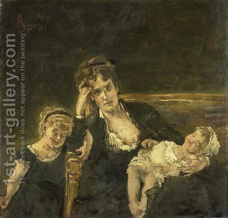 The widow by Alfred Stevens - Reproduction Oil Painting