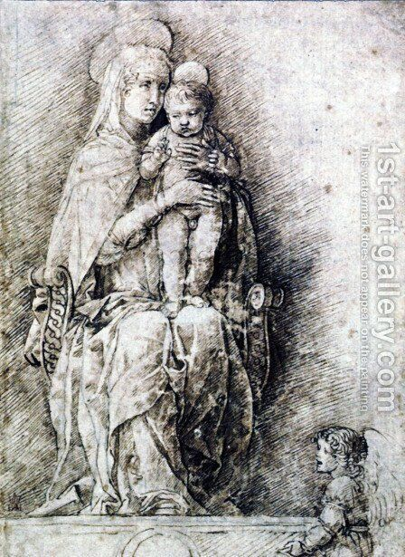 Virgin and Child 4 by Andrea Mantegna - Reproduction Oil Painting