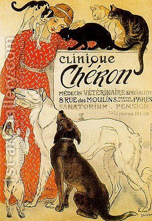 Clinique Cheron by Theophile Alexandre Steinlen - Reproduction Oil Painting
