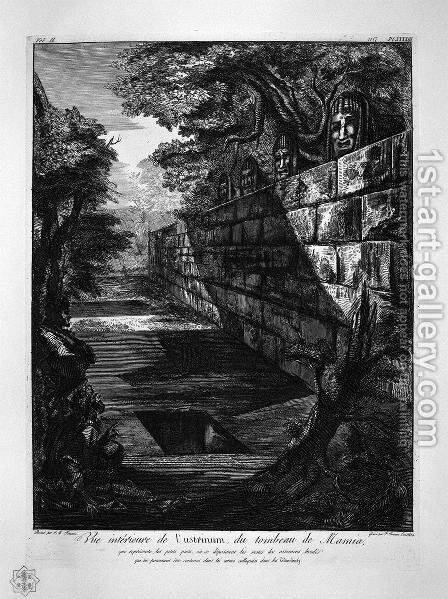 External view of the front door of the tomb aforesaid by Giovanni Battista Piranesi - Reproduction Oil Painting