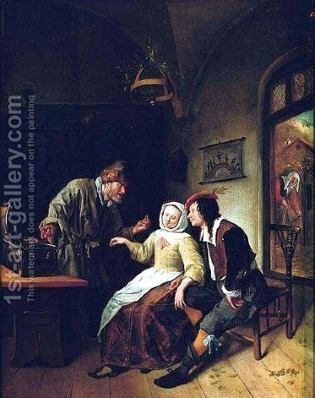 Choice between Richness and Youth by Jan Steen - Reproduction Oil Painting