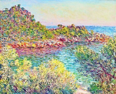 Landscape near Montecarlo by Claude Oscar Monet - Reproduction Oil Painting