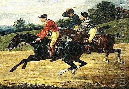 The Horse Race 2 by Theodore Gericault - Reproduction Oil Painting