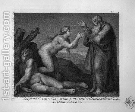 Original sin and expulsion from the Garden of Eden by Giovanni Battista Piranesi - Reproduction Oil Painting