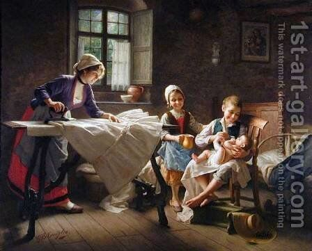 The Centre Of Attention by Giovanni Battista Torriglia - Reproduction Oil Painting