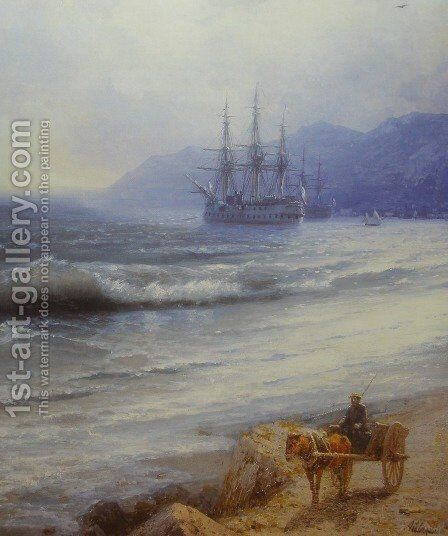 Rush by Ivan Konstantinovich Aivazovsky - Reproduction Oil Painting