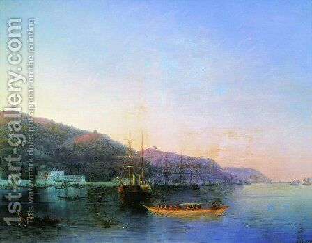 On the roads by Ivan Konstantinovich Aivazovsky - Reproduction Oil Painting