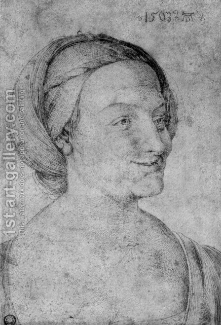Head of a smiling woman by Albrecht Durer - Reproduction Oil Painting
