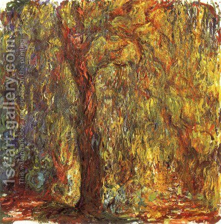 Weeping Willow 3 by Claude Oscar Monet - Reproduction Oil Painting