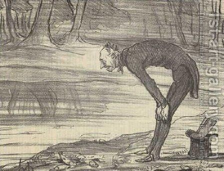 M. Coste by Honoré Daumier - Reproduction Oil Painting