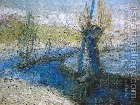 Willows along the stream by Ivan Grohar - Reproduction Oil Painting