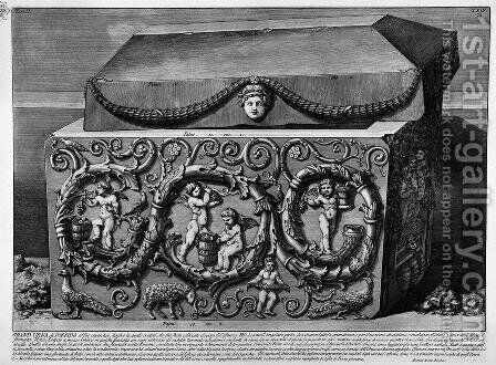 The Roman antiquities, t. 2, Plate XXIV. Columns with their capitals, architrave, frieze and cornice existing under the arches inside the Mausoleum of Constance. by Giovanni Battista Piranesi - Reproduction Oil Painting