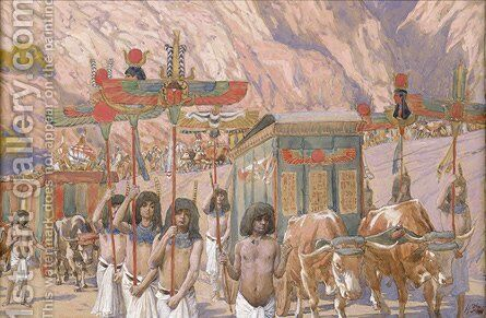 Jacob's Body Is Taken to Canaan by James Jacques Joseph Tissot - Reproduction Oil Painting