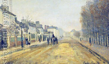 The Boulevard Heloise in Argenteuil by Claude Oscar Monet - Reproduction Oil Painting