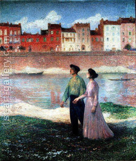 The Lovers 2 by Henri Martin - Reproduction Oil Painting