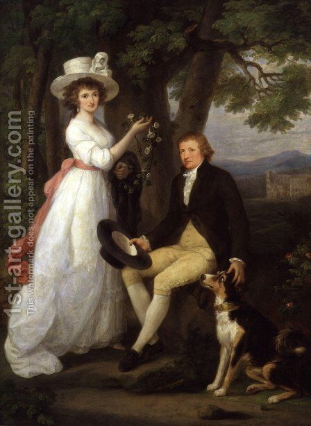 Anna Maria Jenkins and Thomas Jenkins by Angelica Kauffmann - Reproduction Oil Painting