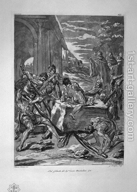 Funeral procession, the Blessed Virgin by Giovanni Battista Piranesi - Reproduction Oil Painting