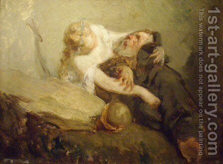 The Temptation of St. Anthony by Jean-Francois Millet - Reproduction Oil Painting