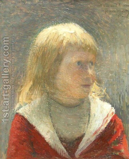 Child in Red Jacket by Henri Martin - Reproduction Oil Painting