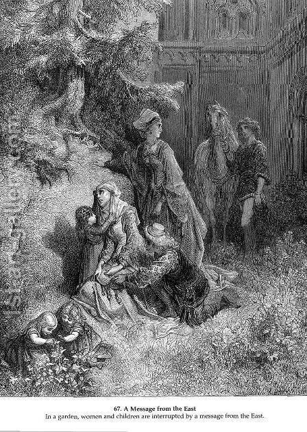 A Message from the East by Gustave Dore - Reproduction Oil Painting