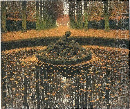 Fountain of the Versailles Queen by Henri Martin - Reproduction Oil Painting