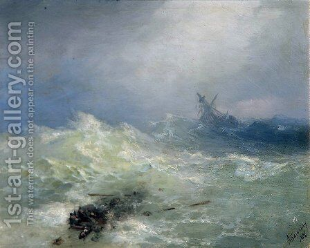 The Tempest 4 by Ivan Konstantinovich Aivazovsky - Reproduction Oil Painting