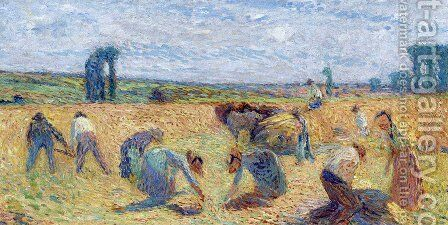 Harvesters by Henri Martin - Reproduction Oil Painting